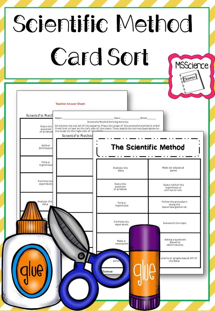 Pin On Science Back To School Scientific method worksheets middle