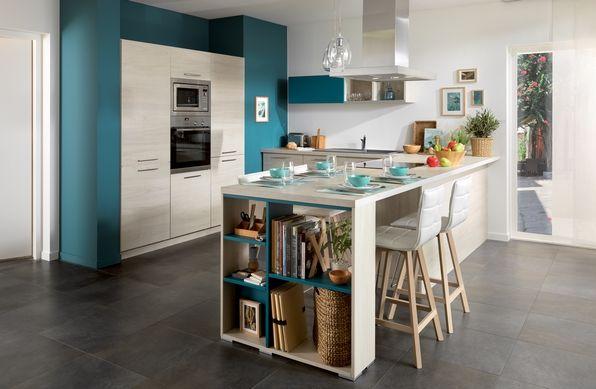 idée déco cuisine ouverte sur salon Deco Maison Moderne Cuisine