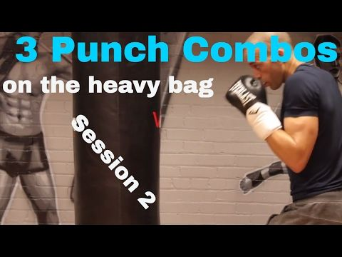 BEGINNER BOXING. HEAVY BAG COMBOS. Session 2 - YouTube