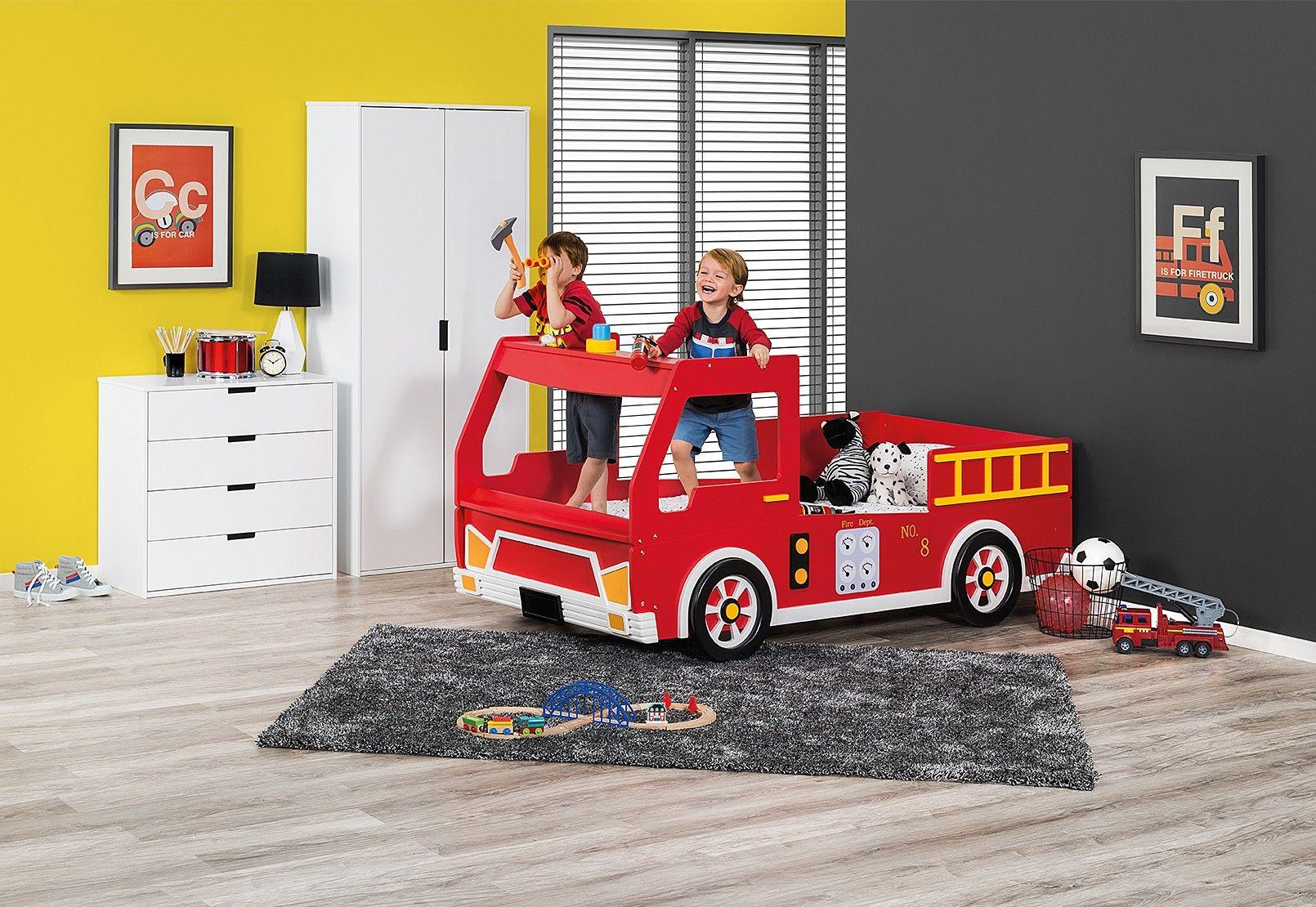 Freddy Fire Engine Single Bed Amart Furniture Toddler Boys