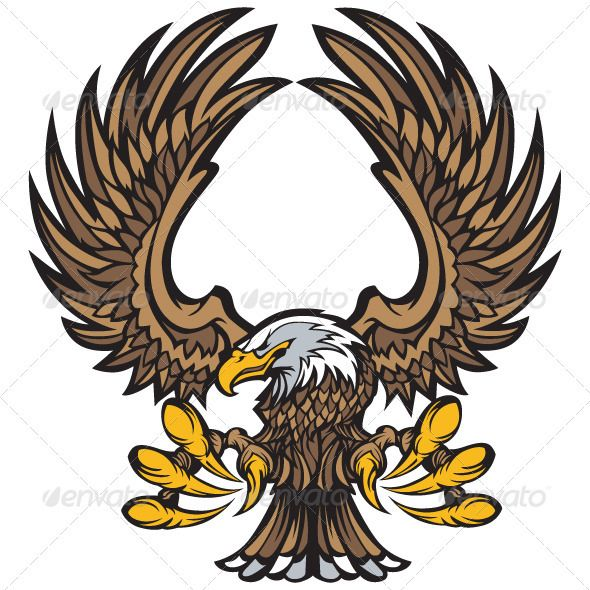 Eagle Wings And Claws Mascot Eagle Drawing Animal Design Illustration Eagle Wings