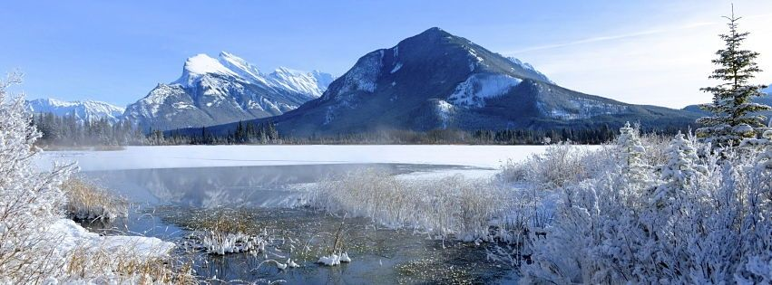 Facebook Cover Photo Banff Mountains Winter Snow