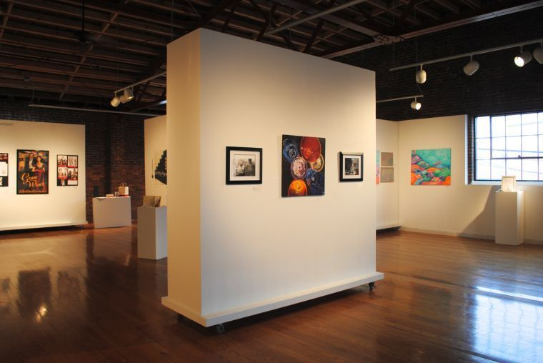 Artworks gallery opening four jmu seniors represent the House with movable walls