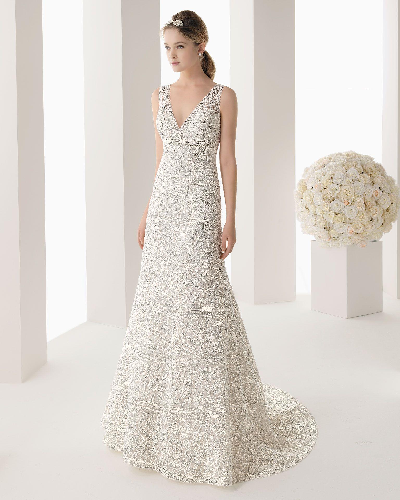 MONTANA - Guipure dress in a natural colour.S07 - Seida silver ...