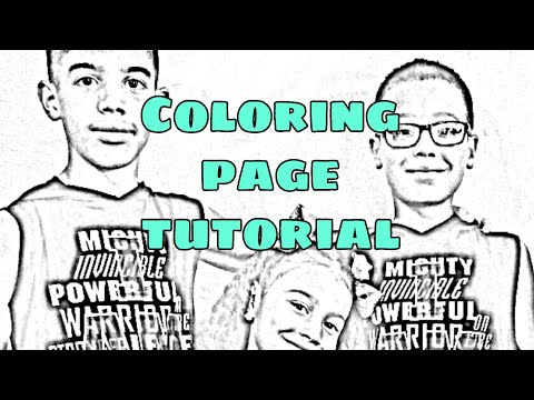 21 How To Turn Picture Into A Coloring Page Tutorial Using Picsart Youtube Coloring Pages Coloring Books Tutorial