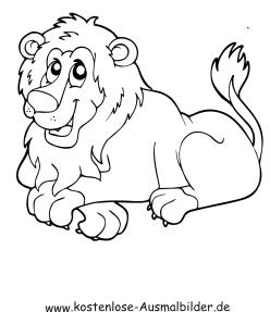 Ausmalbild Lowe Zum Ausdrucken Ausmalbild Lowe Tiere Zeichnen Ausmalen