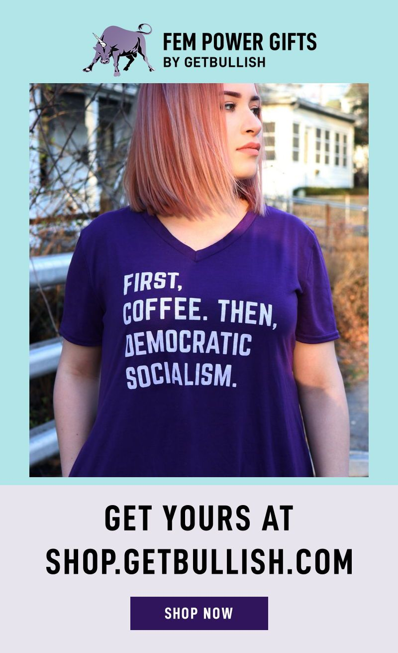 251acc881c79a First, Coffee Then Democratic Socialism V-Neck Pocket Dress in ...