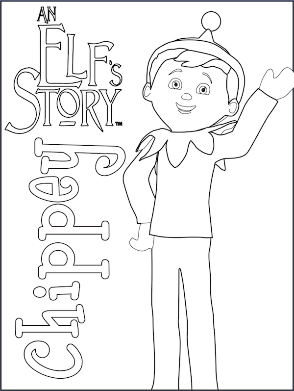 Elf On The Shelf Coloring Pages Christmas Coloring Pages Shelf Coloring Page
