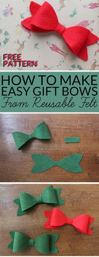 how to make christmas bows from felt