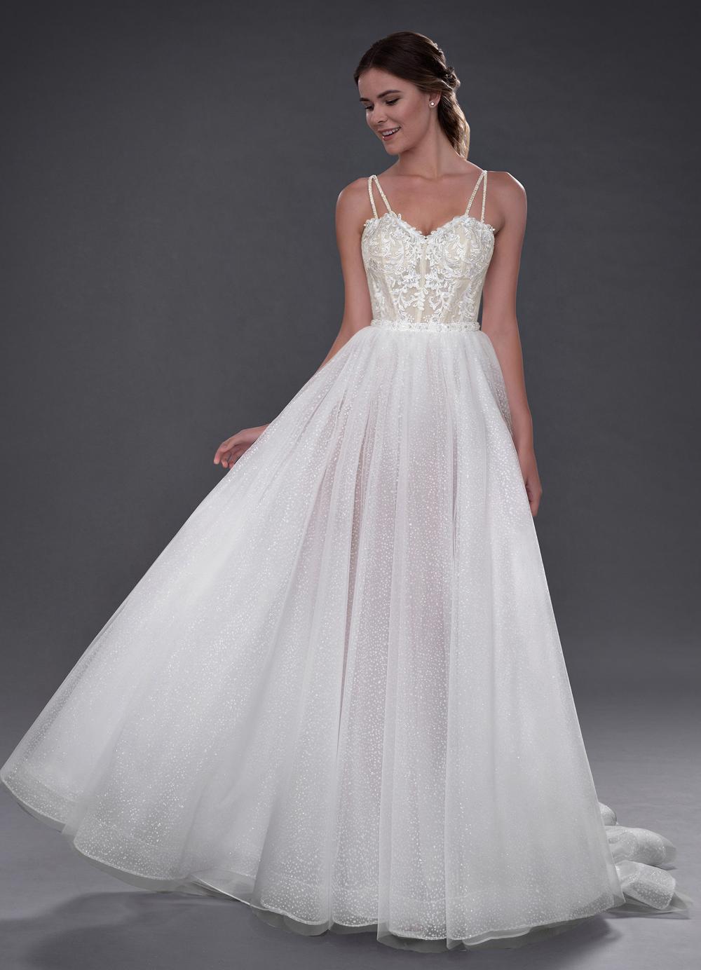 Azazie Rhapsody BG Wedding Dress Diamond White/Champagne
