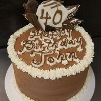 Tremendous Happy Birthday John Happy 40Th Birthday Birthday Cake Personalised Birthday Cards Veneteletsinfo