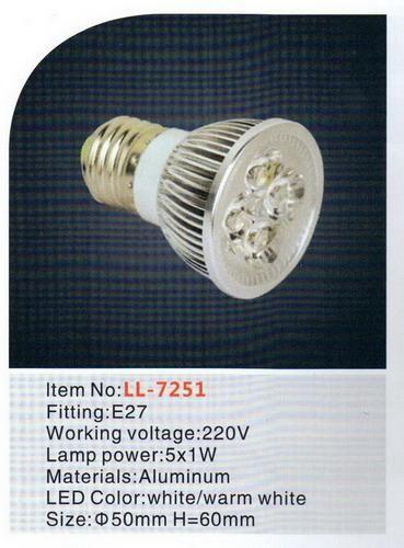 Lampu LED Spot 5x1Watt E27 220V