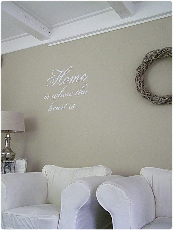 Mooie kleur voor de muur my style pinterest home for Zandkleur muur