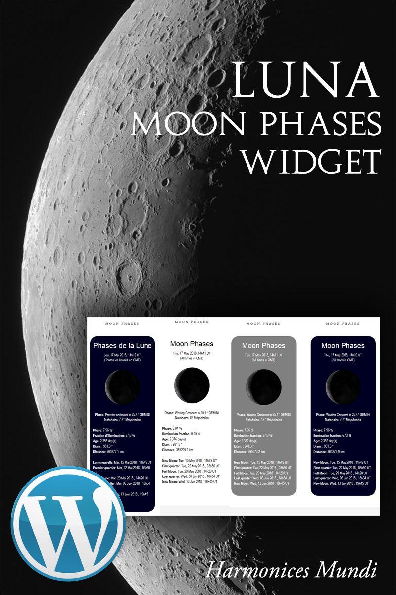 Luna Moon Phases Wordpress Plugin 69477 Blog Luna Moon