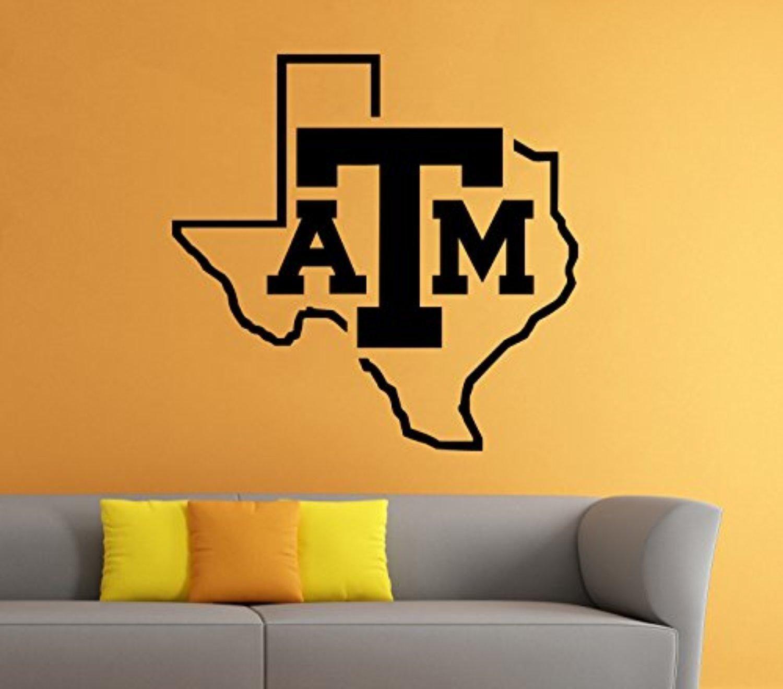 Texas A&M Football Emblem Vinyl Decal Sticker NCAAF College Sport ...