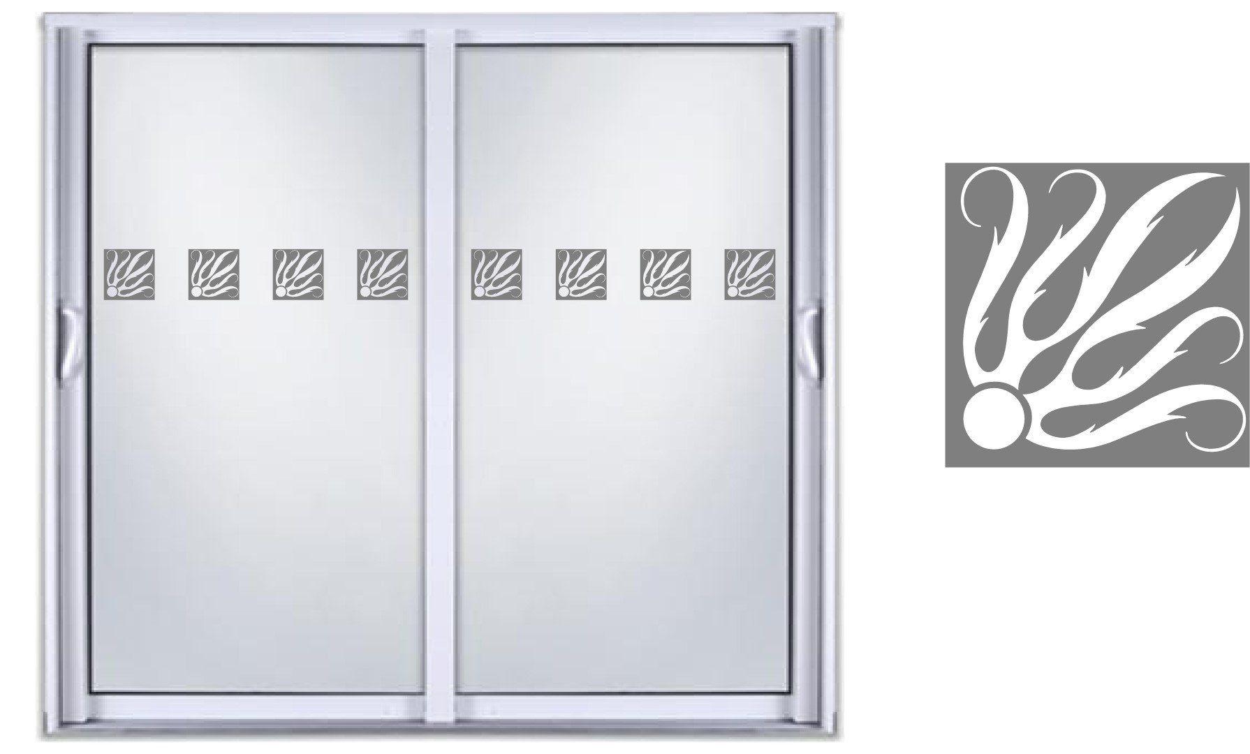 Safety diy etched glass vinyl privacy film glass door decals sliding door window decal stickers 04