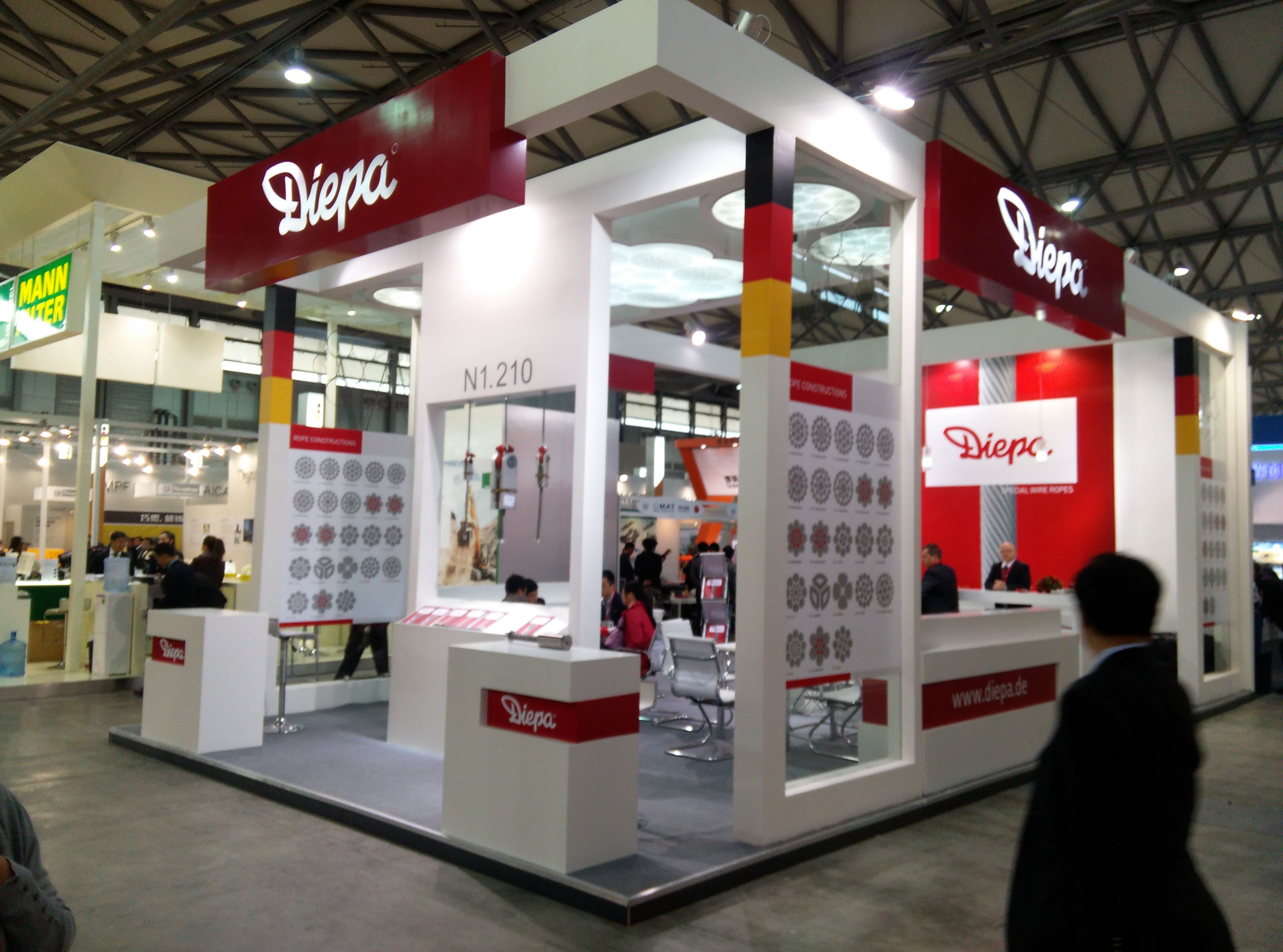 Bauma exhibition stand booth stand builder event stage for Pavillon moderne construction