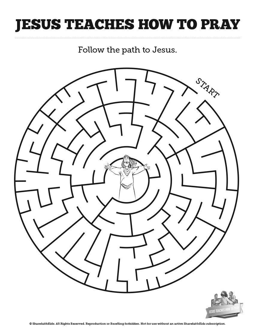 the lord u0027s prayer bible mazes can your kids navigate each twist