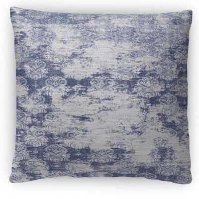"""Kavka Milano Fleece Throw Pillow Color: Blue, Size: 16"""" H x 16"""" W x 4"""" D"""