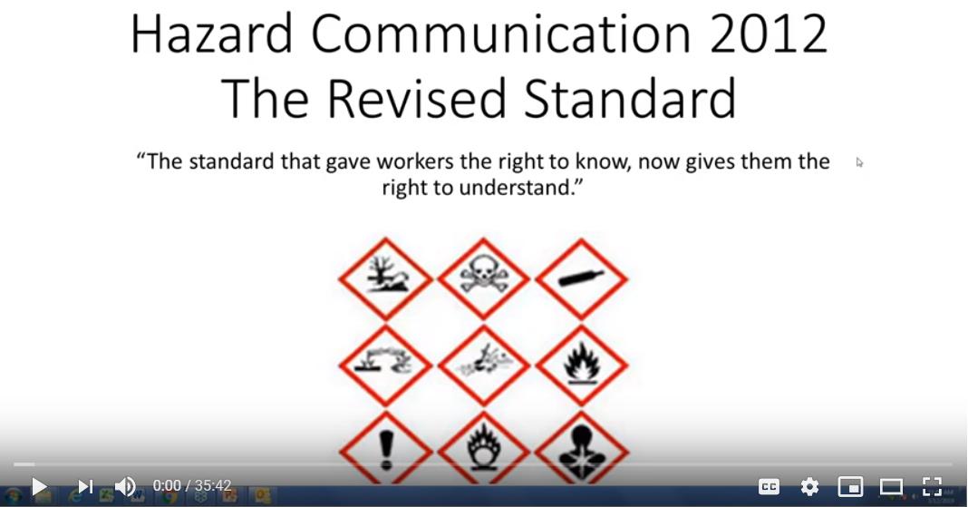 Hazardous Communications Standard is a standard