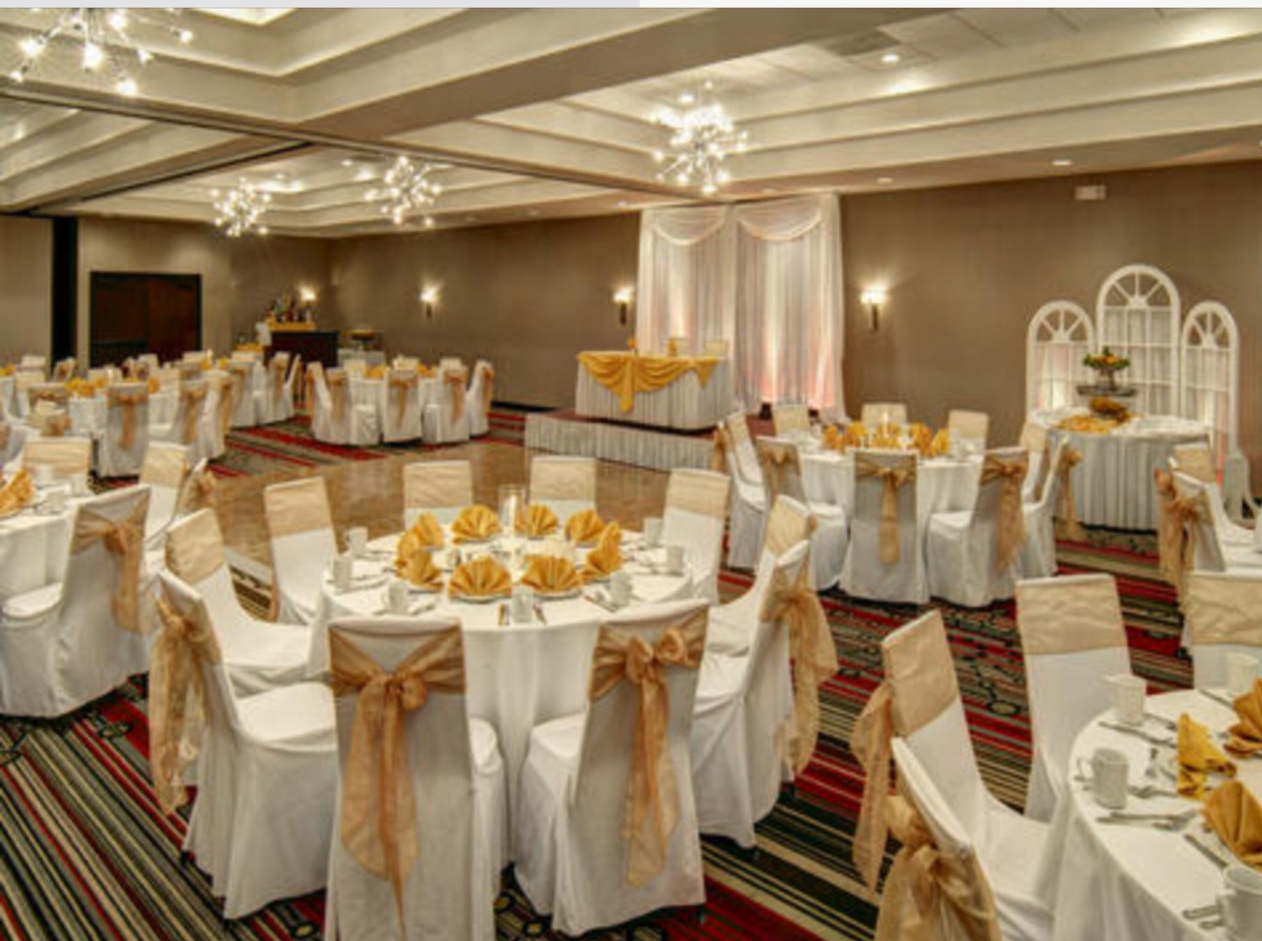 The chandeliers are so abstract and stylish! | Banquet Halls | Pinterest