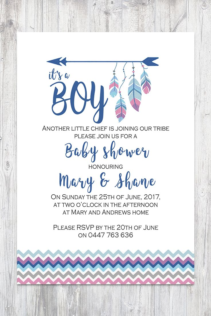 Tee Pee Aztec Tribal Southwest Baby Shower Sprinkle Invitation ...