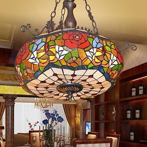 Byb Vintage Tiffany Style Chandelier Ceiling Lighting Hanging Lamp 3 Lights Tiffany Style Chandeliers Tiffany Style Lamp Ceiling Lights