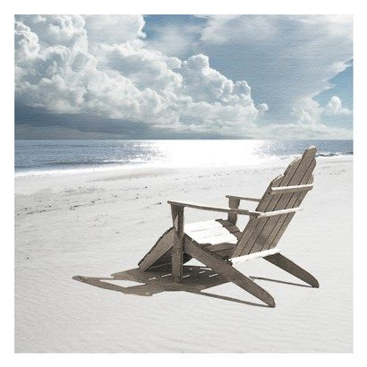Solitary Beach Chair By Noah Bay Beach Chairs Beach Wall Art