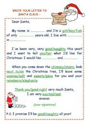 write your letter to santa