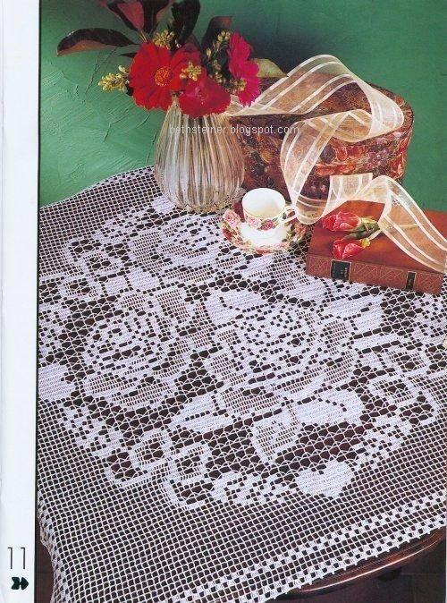 Croche maravilha de arte: toalha de mesa