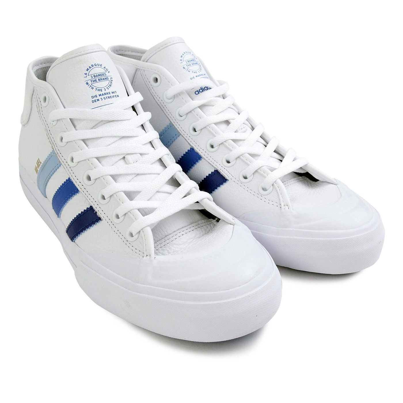 0a01ec9f3ddeb Matchcourt Mid Na-Kel Smith Shoes in White / Collegiate Royal ...