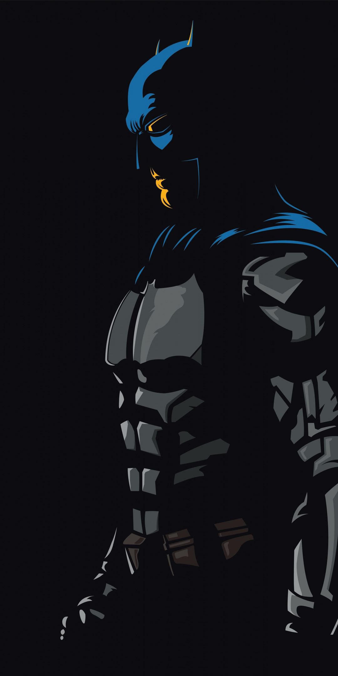 Batman Dark Knight Justice League Dc Comics Minimal 1080x2160 Wallpaper Batman Artwork Superhero Wallpaper Batman Wallpaper