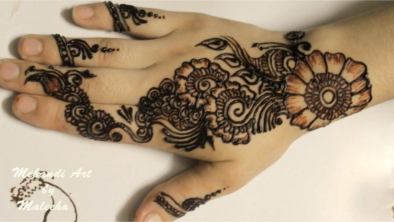 Mehndi Wrist Joint : Easy simple mehndi henna designs tutorials design for hands