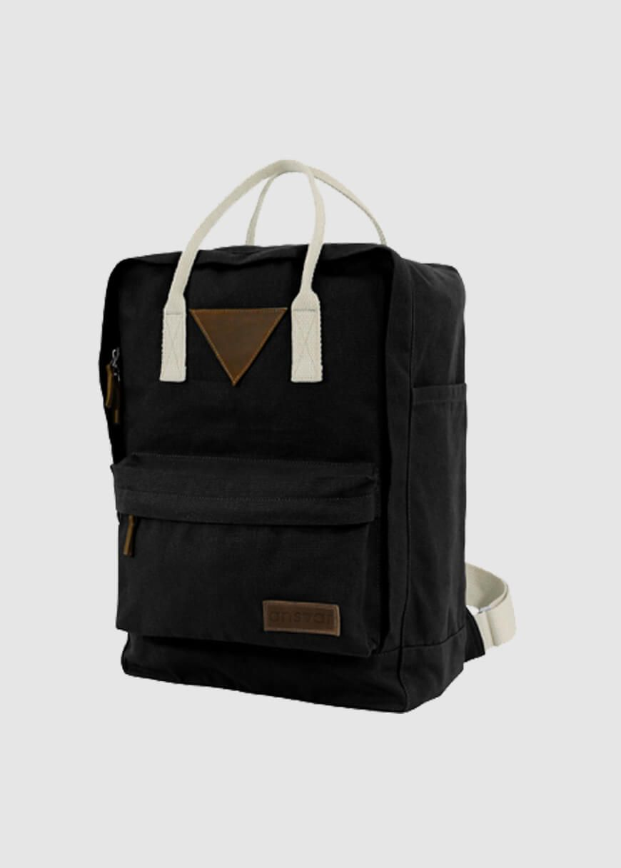9f8b7fb1c757b Ansvar II Backpack Black von mela wear bei GREENALITY bestellen. ✓Fair Trade    Bio ✓Lieferung in 1-2 Tagen ✓Versandkosten nur 2