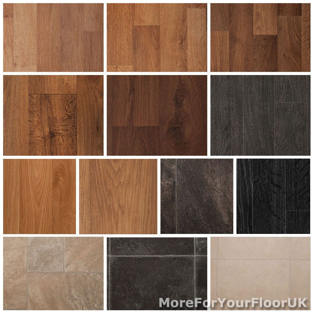 Quality Vinyl Flooring Roll Wood Or Tile Effect Kitchen Bathroom Lino 3m