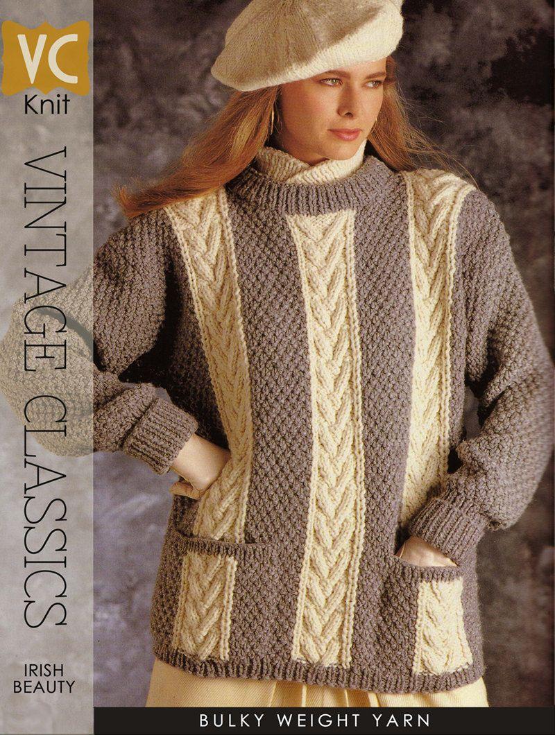 VINTAGE 80\'s KNIT | Bulky Irish Cream Collection \