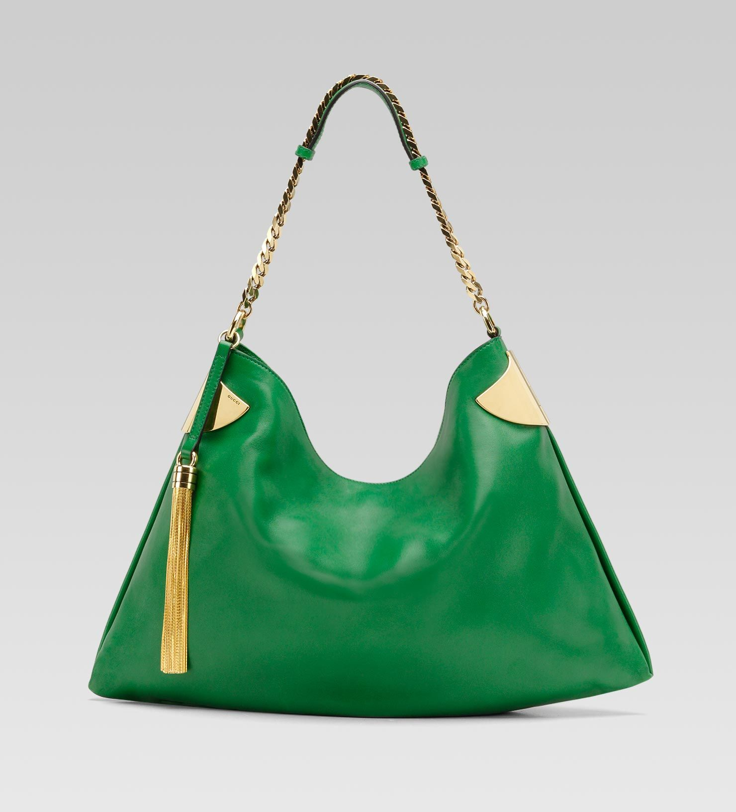 9e1694c278a Gucci  1970s  handbag in green leather