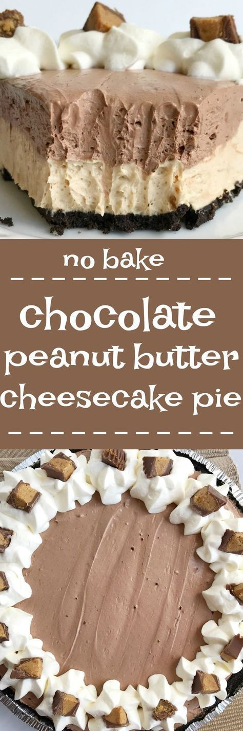 You won't believe how easy this no bake chocolate peanut butter cheesecake pie is to make! Uses a premade Oreo crust, filled with a creamy peanut butter cheesecake, and then topped with a layer of c is part of Chocolate peanut butter pie -