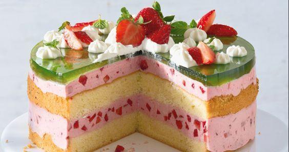 Erdbeer Waldmeister Torte Rezept Beste Kuchen