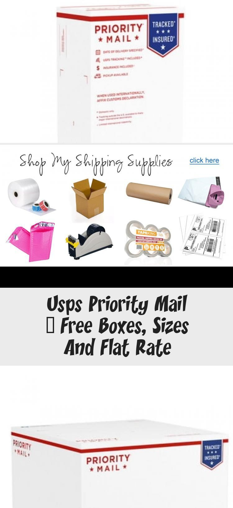 Usps Priority Mail Free Boxes Sizes And Flat Rate As An Ebay
