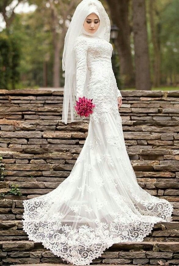 Wedding dresses - Bruidsjurken | Muslim wedding dresses | Pinterest ...