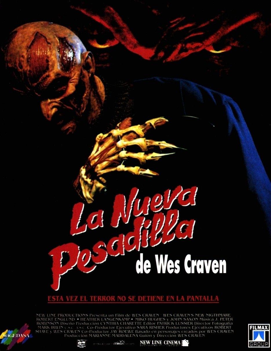 Pesadilla En Elm Street 7 La Nueva Pesadilla De Wes Craven 1994 Ver Películas Online Gratis Ver Pesadilla New Nightmare New Poster Horror Movie Posters