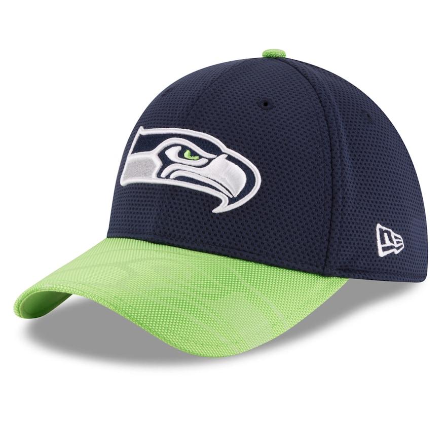 Adult New Era Seattle Seahawks 39thirty Sideline Flex Fit Cap