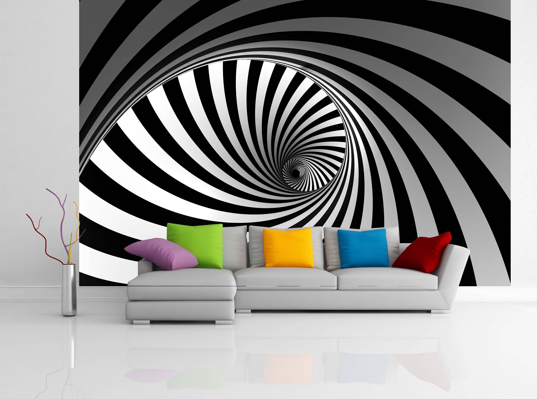 Removable Wallpaper Mural Peel Stick 3d Spiral By Uniqstiq On Etsy Decoracao De Interiores Salas Decoracao De Interiores Ideias De Decoracao