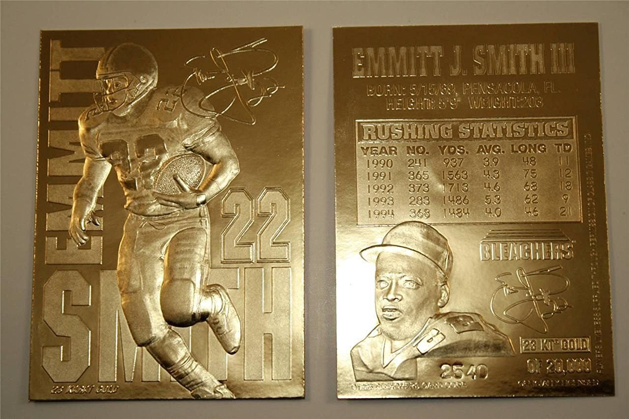 Emmitt Smith 1995 Limited Edition Signaured 23KT Gold Card! Dallas Cowboys! http://amzn.to/2cMbILL