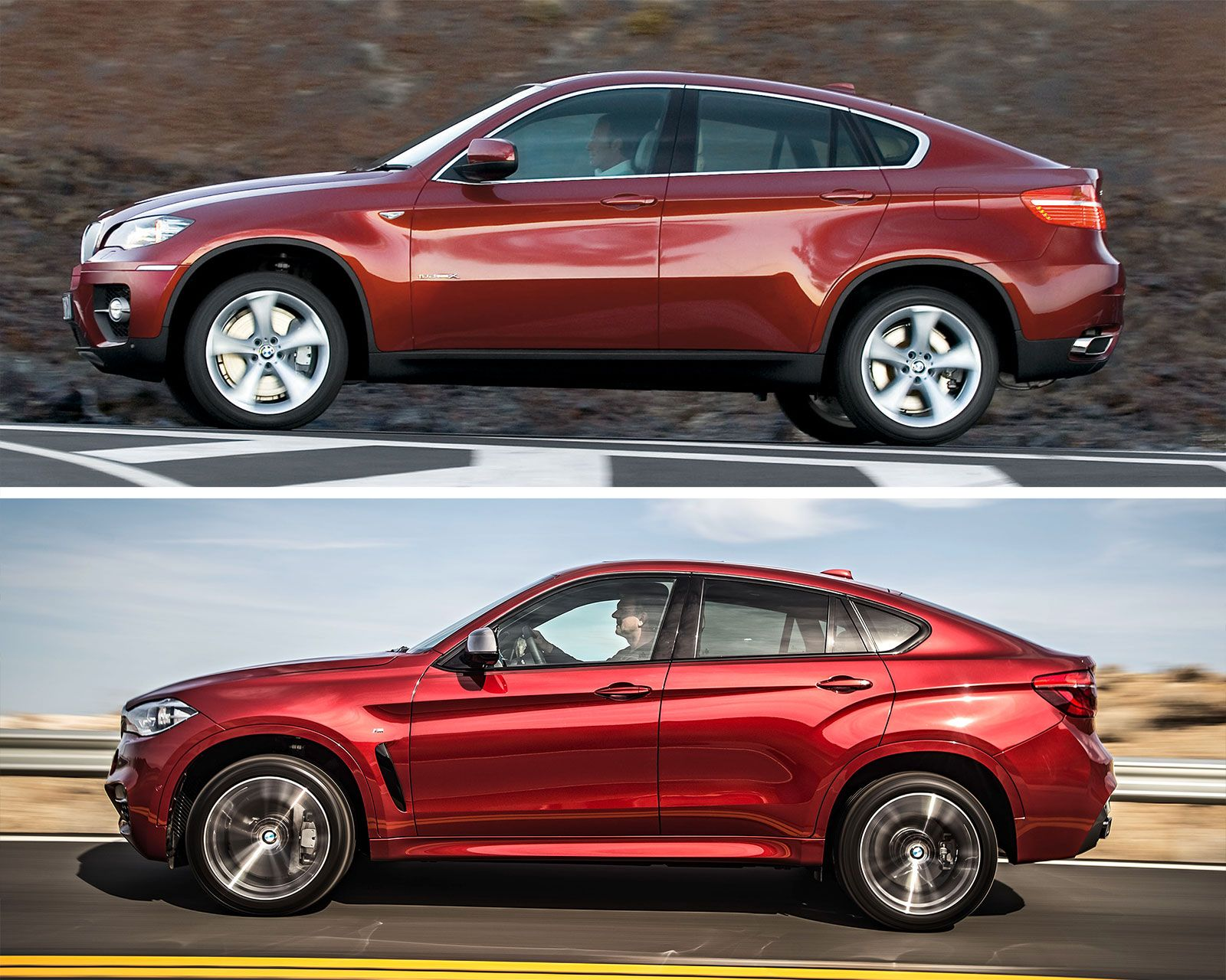BMW X6 1st and 2nd generation Design parison