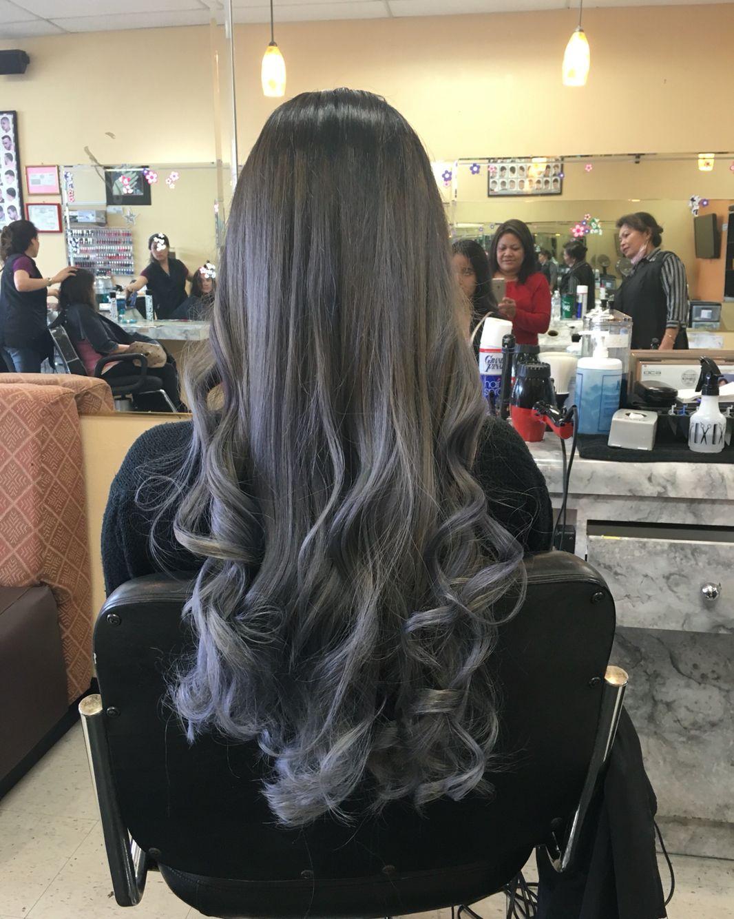 Ombre grey hair