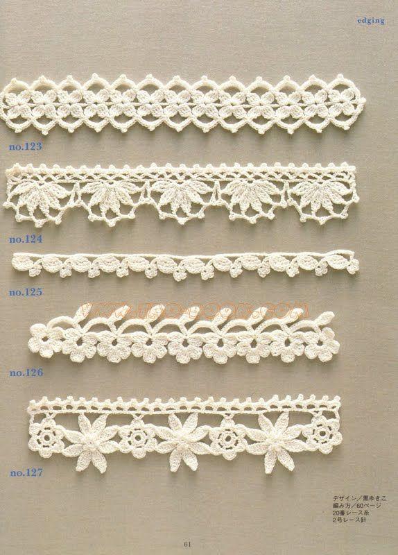 SOLO PUNTOS: Puntillas crochet | вязка крючком | Pinterest | Puntos ...