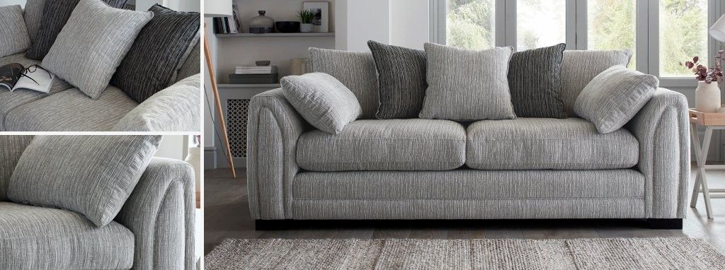 Harlem Pillow Back 4 Seater Sofa Sofa Sofa Styling Seater Sofa