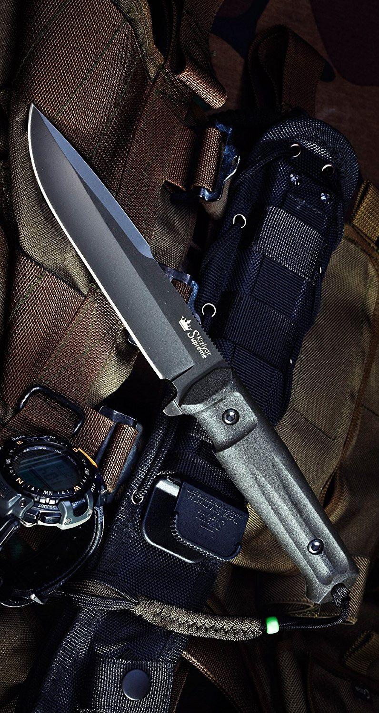 Kizlyar KK0208 Delta D2 Russian Made Titanium Tactical Fixed Knife